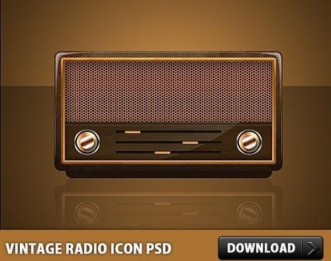 Vintage Radio Icon PSD