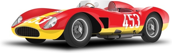 vintage red racing car
