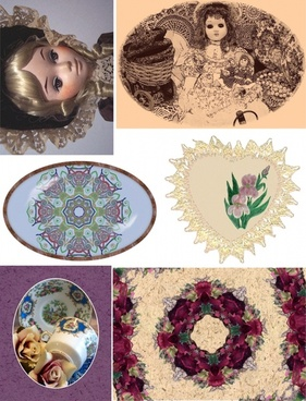 vintage retro collage items