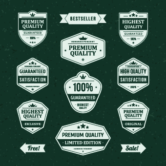 vintage ribbon sale labels vector