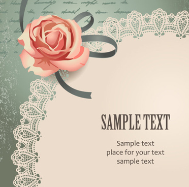 vintage romantic rose background vector