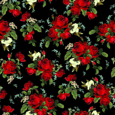 vintage roses vector seamless pattern