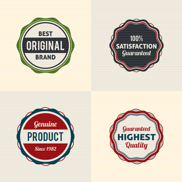 vintage round badge design