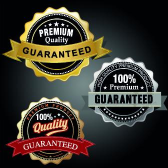 vintage round premium quality label vector