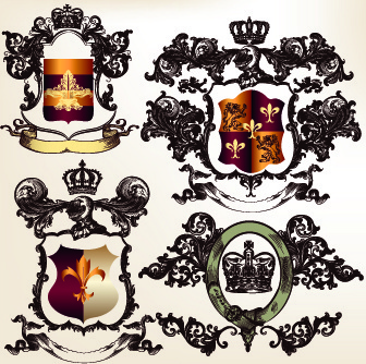 vintage royal badge design vector