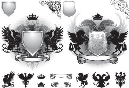 vintage royal labels design vector graphics