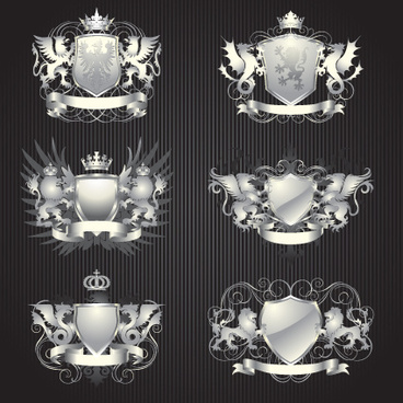 vintage royal labels design vector graphics