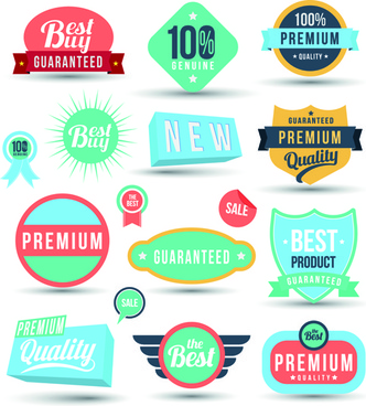 vintage sale badges and label with stickers vector