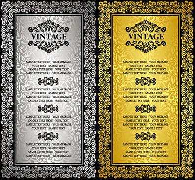 vintage seamless background vector