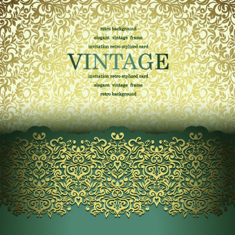 vintage seamless luxury pattern background vector