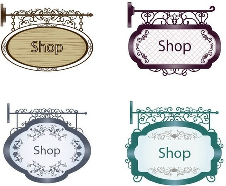 vintage sign shapes free vector download 23 293 free vector for