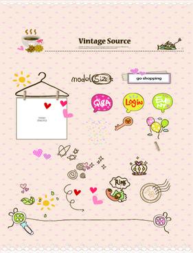 vintage source elements vector