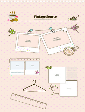 vintage source elements vector