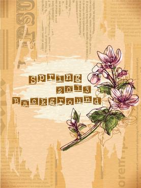 vintage spring floral background