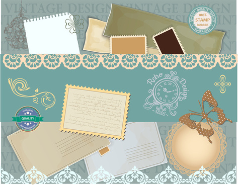 vintage stamp background design