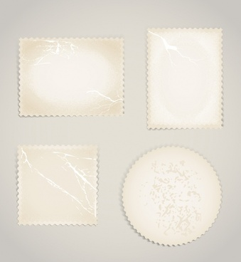 vintage stamp template vector