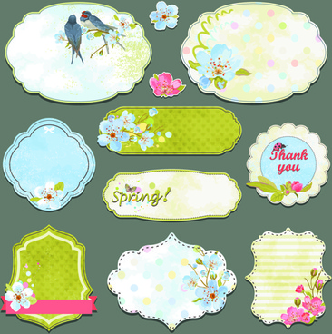 vintage sticker labels vector