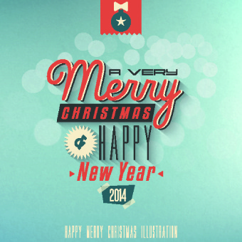 vintage style14 christmas background vector