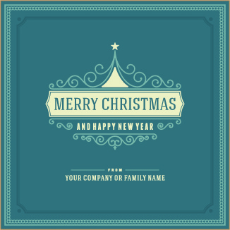 vintage style frames christmas background vector