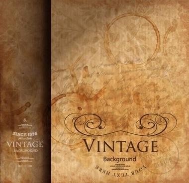 vintage style grunge vector background set