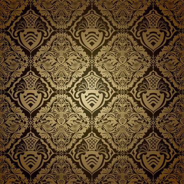 vintage style patterns ornate floral vector