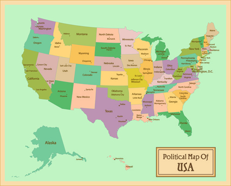 vintage style political maps set vector