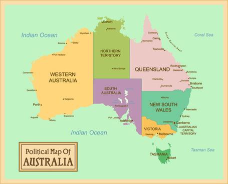 vintage style political maps set vector