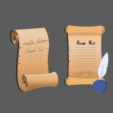 vintage style royal decree paper roll sets