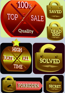 vintage style sale badge and tag vector