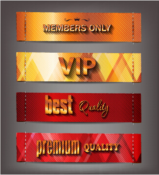 vintage style vip banners vector