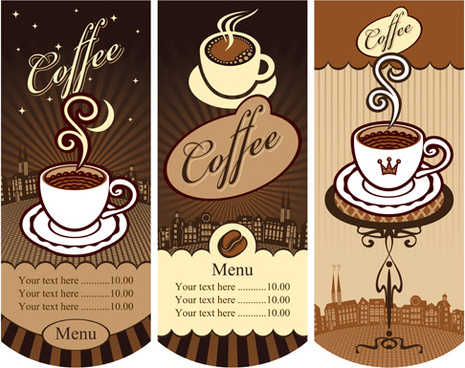vintage styles cafe price menu vector