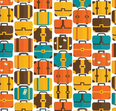 vintage suitcase seamless pattern vector