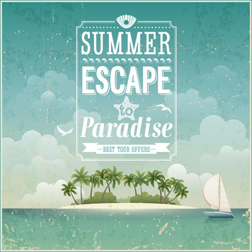 vintage summer backgrounds art