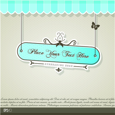 vintage tag vector background set