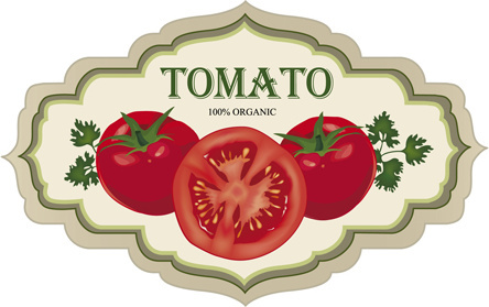vintage tomato labels design vector