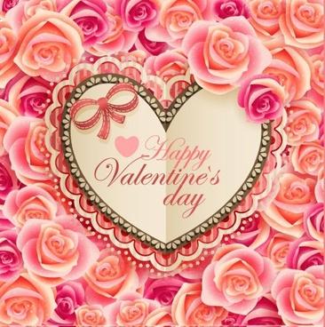 vintage valentine card vector
