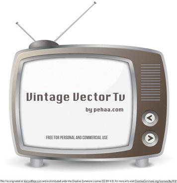 vintage vector tv