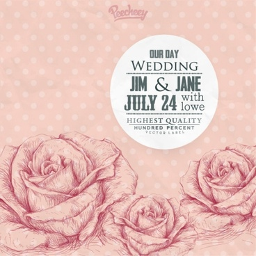 Vintage Wedding Background Free Vector Download 57375 Free