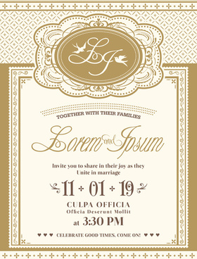 free vintage wedding invitation card pattern background free vector download 73 626 free vector for commercial use format ai eps cdr svg vector illustration graphic art design free vintage wedding invitation card