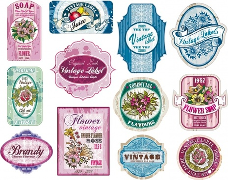 vintage wine label vector
