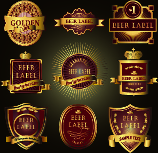 vintage wine labels design vector