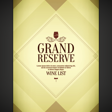vintage wine list creative design vector