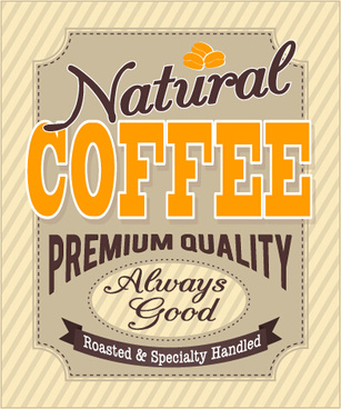 vintage with retro coffee house poster