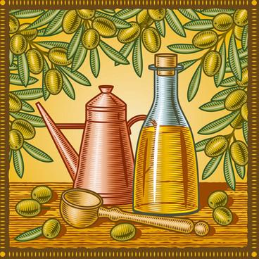 vintage with retro olives design vector
