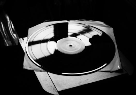 vinyl music plate
