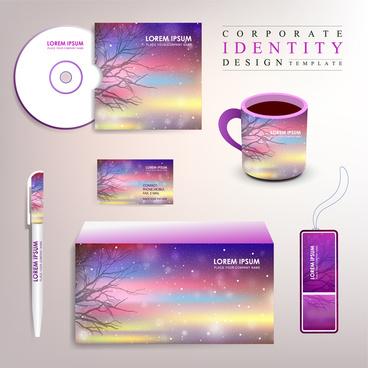 violet corporate identity set