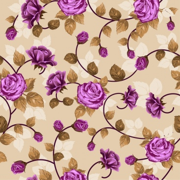 violet roses background repeating seamless style