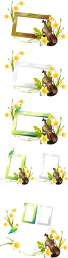violin photo frame vector
