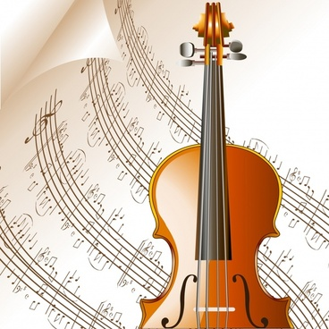 music background violin music notes page decor