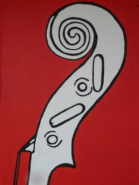 violin snail mural